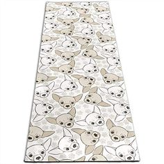 Chihuahua Dog Cute Pattern Printed Yoga Mat Prana Yoga Mat Bikram Yoga Mat Portable Home Gym 24 X 70 Inches ** You can find out more details at the link of the image. (This is an affiliate link) Yoga Strap, Portable House, Bikram Yoga, Types Of Yoga, Chihuahua Dogs, Cute Pattern, Print Patterns, Gym, Printed