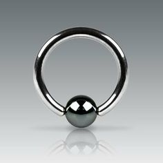 Hematite Plated Captive Bead Ring - 10G (2.6mm) - 16mm Length - 6mm Ball Size - Sold as a Pair WickedBodyJewelz - Captive Rings. $3.50