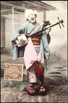 1910s Japan» Shamisen Player
