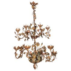 Italian Rococo Style Chandelier | From a unique collection of antique and modern chandeliers and pendants  at https://www.1stdibs.com/furniture/lighting/chandeliers-pendant-lights/