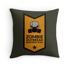 Zombie Response Team (Gas Mask / Banner / Orange) by Robert Partridge