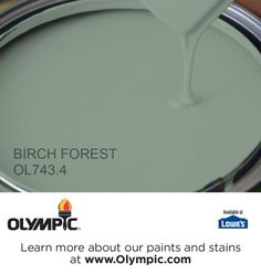 BIRCH FOREST OL743.4 is a part of the greens collection by Olympic® Paint.
