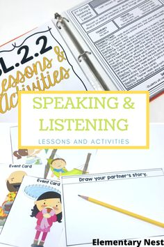 How to Fit in Daily Speaking and Listening Activities In The Classroom.. This teaching blog post is all about speaking and listening activities! We all try to incorporate daily speaking and listening activities into our classrooms. However, sometimes it can be hard to fit them into our daily schedule! We first need to figure out your grade level expectations, then determine when it'll work in your schedule, and then start teach. Click here to find out more about my Daily Speaking and Listening l Listening Activities For Kids, Fluency Activities, First Grade Activities, Grammar Activities, Active Listening, Teaching Grammar, Listening Skills, Language Activities, Vocabulary Games