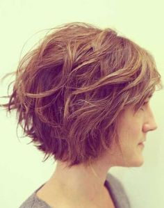 short hairstyle idea - love the short layers and wave.