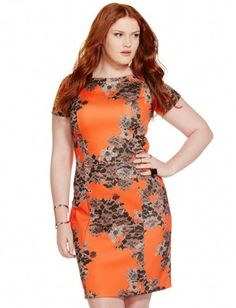 Need this! So happy Eloquii is back! Lace Print Body Con Dress