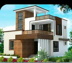 Modern front of house designs single house elevation best home elevation designs single floor house design . modern front of house designs Plan Duplex, Duplex House Plans, Dream House Plans, Single Floor House Design, Duplex House Design, Modern House Design, Contemporary Design, Front Elevation Designs, House Elevation
