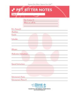 pet sitting report card form