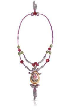 """Le collier """"Train des Fleurs"""" de Fabergé  #Fabergé #collar #jewelry"""