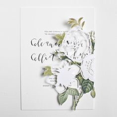FOR THE STATIONARY || Modern elegant floral papercut wedding invitations with hand-lettered calligraphy || NOVELA BRIDE...where the modern romantics play & plan the most stylish weddings.... www.novelabride.com @novelabride #jointheclique #novelabride