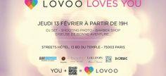 Venez célébrer l'Amour! Jeudi 13 février 2014 à partir de 19h au Streets Hotel #Paris!