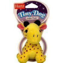 Hartz Dog Jungle Plush Toy Tiny Style May Vary Pack Of 6