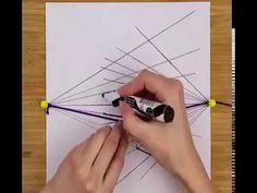 How to draw perspective without a ruler✍️ (P.S. this video does not have a sound  My apologies)