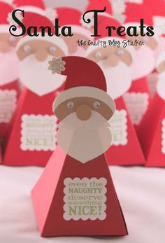 Santa Treat Boxes would make great teacher or neighbor gifts