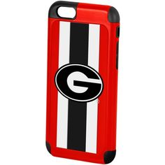Forever Collectibles Georgia Bulldogs iPhone 6 Case ($12) ❤ liked on Polyvore featuring accessories, tech accessories and red