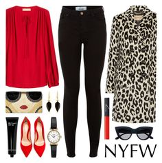"""""""Hot NYFW Runway Trend"""" by lgb321 ❤ liked on Polyvore featuring New Look, Isabel Marant, Gianvito Rossi, NARS Cosmetics, Topshop, Burberry, Michael Kors, Bobbi Brown Cosmetics and Alice + Olivia"""