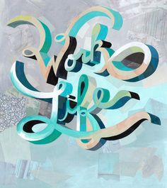 The colors and the lettering on this are just beautiful. By Darren Booth, from Grain Edit