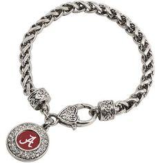 Alabama Crimson Tide Ladies Heart Clasp Bracelet