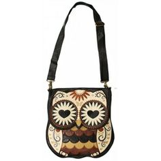 Loungefly Retro Owl Faux Leather Vegan Cross Body Shoulder-bag Purse    Item: 13446  This adorable vegan cross-body owl bag from Loungefly i...
