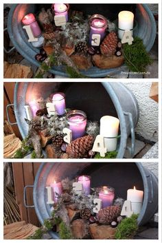 Make an outdoor advent wreath yourself - looks great! - the must have this year – an outdoor advent calendar! Where are the numbers from? You will laugh -