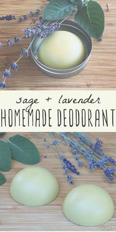 Homemade deodorant is easy to make and good for your health. This herbal deodorant recipe is made with lavender and sage, both herbs that have many beneficial properties. Beauty Care, Diy Beauty, Beauty Tricks, Lavender Recipes, Homemade Deodorant, Beauty Recipe, The Body Shop, Homemade Gifts, Diy Gifts