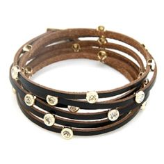 Layered Leather Bracelet by Shine Accessories