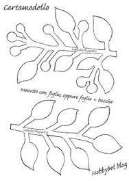 Risultati immagini per cartamodello albero di natale in feltro