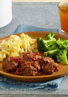 Easy Slow-Cooker A.1. Swiss Steak -- A few key ingredients, including tangy A.1. Original Sauce, cook all day in the slow cooker in this healthy living Swiss steak recipe.