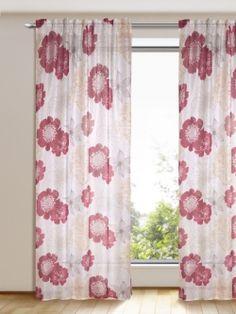 kr ftige farben wohlf hl atmosph re schal mit verdeckten schlaufen gardinen. Black Bedroom Furniture Sets. Home Design Ideas