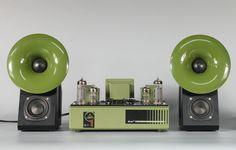 QinPu D-1+ S-2 pure desktop hifi tube amplifier horn speaker combination set free shipping