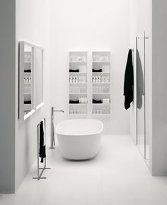 ♂ Minimalist modern black and white bathroom interior design Materia Collection by antoniolupi