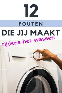 Wassen met een wasmachine is zo eenvoudig, maar je kunt ook heel snel een fout maken. Diy Cleaning Products, Cleaning Hacks, Move In Cleaning, Laundry Hacks, Household Cleaners, Good Housekeeping, Life Savers, Homemaking, Clean House