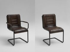 Schwingstuhl Franco mit/ ohne Armlehnen Leder Antik