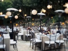 Stone Manor in Malibu - love the outdoor seating and lanterns...