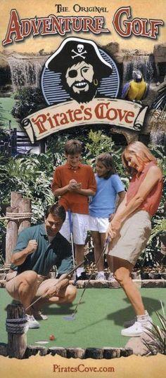 Pirates Cove Brochure - Hot Springs, Arkansas #PiratesCove #Minigolf #Travel #Brochure #HotSprings #Arkansas