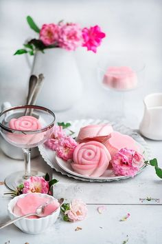 Sep 27, 2020 - Rose Panna Cotta is rich, silky smooth and deliciously super creamy with taste and texture. The unique flavor of rose make this panna cotta royal, classic. Best Vegetarian Recipes, New Recipes, Favorite Recipes, Delicious Recipes, Eggless Desserts, Make Ahead Desserts, Beetroot Powder, Full Fat Milk