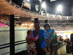 Paul and his REAL kids at the olympics.