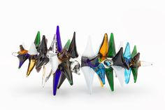 John Armleder - Volcanic Fireball Sculpture Silvano Murano glass, 26 x 53 x 26 cm Art Sculpture, Abstract Sculpture, Sculptures, Land Art, John Armleder, John Cage, Fluxus, Design Color, Art Activities