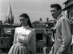 Hepburn (and Gregory Peck) in Roman Holiday
