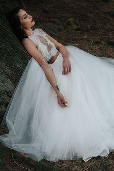 birmingham-wedding-photography-bridal-portraits-two-piece-dress-lace-tulle-sutton-coldfield-feather-neckline