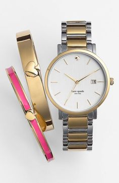 Obsessed with this Kate Spade watch & these darling bangles