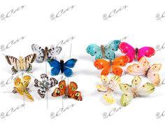 Farfalle decorative su stelo e su clip
