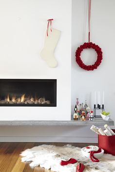 """""""Scandinavian Inspired"""" mantle, styled by Emma from The Marion House Book for The Globe & Mail.  I love Scandinavian everything else, so little wonder this is the holiday mantle I would choose, too."""