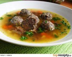 hovězí vývar – which is a transparent beef based soup (occasionally s játrovými knedlíčky - and dumplings made from liver)