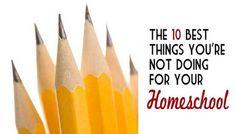 Homeschool suggestions