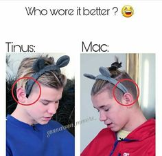 I'm really sorry but Mac wore it better😂😂💓 Dream Boyfriend, Funny Moments, True Love, Norway, Texts, Celebrities, How To Wear, Life, Display