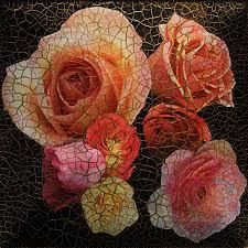 Crackle Rose Decoupage Photo: Hand-made decoupage plate with roses and a gold, very dimensional crackle (this is a photo). This Photo was uploaded by Art. Decoupage Plates, Decoupage Wood, Diy And Crafts, Arts And Crafts, Rice Paper, Paint Designs, Mosaic Art, Vintage Wood, Creative Art