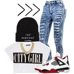 city girl ., created by r0arr on Polyvore