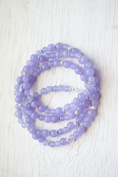 Long Lilac Jade Necklace