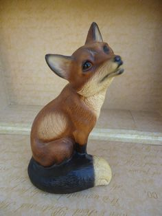Made in Japan Red Fox Figurine by Catsandclover on Etsy, $11.00