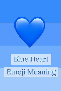 Emoji mean does what the heart blue WhatsApp: What